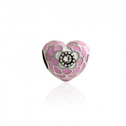 Pink Romantic Heart Clear CZ